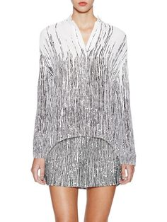 Printed Top with Curved Hem by Balenciaga at Gilt