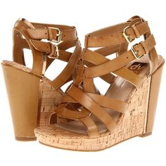 DV by Dolce Vita Tabia Women's Wedge Shoes ($54) ❤ liked on Polyvore featuring shoes, sandals, wedges, heels, beige, dolce vita sandals, summer wedge sandals, summer sandals, cork platform sandals and strappy sandals