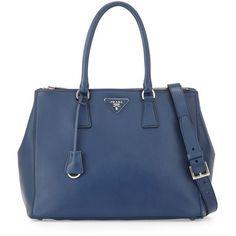 Prada City Calfskin Bicolor Double-Zip Galleria Tote Bag (9,370 SAR) ❤ liked on…  Diese und weitere Taschen auf www.designertaschen-shops.de entdecken