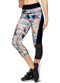 Amazon.com: RBX Active Women's Side Pocket Multi Floral Yoga Capri Leggings Watercolor XL: Clothing