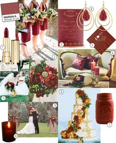 Marsala Is Pantone's 2015 Color of The Year -- See How To Use This Dark Red in Your Wedding