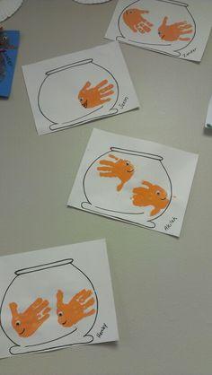 - Best DIY and Crafts Ideas Diy For Kids, Crafts For Kids, Arts And Crafts, Classroom Crafts, Preschool Crafts, Fingerprint Art, Fish Crafts, Camping Crafts, Animal Crafts