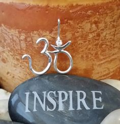 Find your inner peace, then wear it to inspire others. Check out this unique, handmade one of a kind pendant item in my Etsy shop https://www.etsy.com/listing/204629111/yoga-symbol-om-with-a-3-mm-white-cz