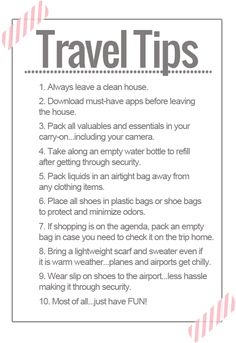 10 travel tips