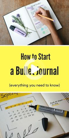 Learn everything you need to know about starting a bullet journal! You'll learn how to create monthly, weekly, and daily layouts and other bullet journal spreads! You'll even learn about bullet journal supplies and get a few ideas for your first bujo! Bullet Journal August, Bullet Journal Inspo, Bullet Journal Books To Read, Bullet Journal Bucket List, Bullet Journal Monthly Log, Bullet Journal Wishlist, Bullet Journal Banners, Bullet Journal Doodles, Bullet Journal First Page