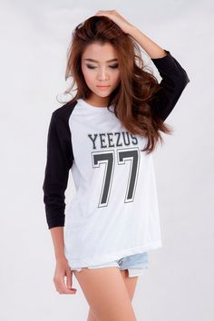 Kanye West Yeezus T-Shirt for Teen Teenage Girls Teenager Blogger Tumblr Hip Hop Clothes Fashion Shirt Birthday Friends Christmas Gifts