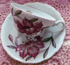 Handpainted Fine China cup and saucer MINT by ChinaGalore on Etsy, $12.99