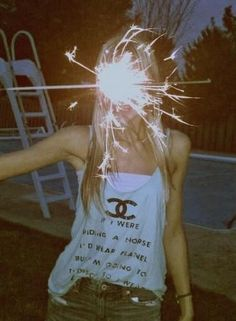 I have this tank! haha. just add sparkler = 4th of July outfit