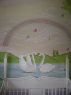 Swan Lake Mural Close- up