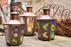 Light  Pathways or decorate out door living spaces with Bevolo Pool House Lanterns.