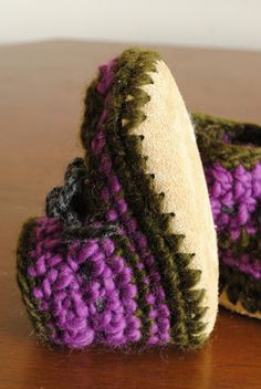 hand sewn slipper boots with punched leather sofa soles