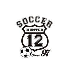Alphabet Garden Designs Personalized Soccer Crest Wall Decal