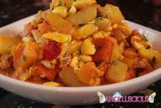 Ackee and Salted Cod with Roasted Root Vegetables