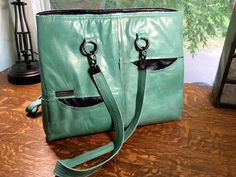 Large leather tote bag   Seamsrite4u Etsy   those pockets!