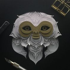 It's a Demiguise, guys! I was going to make a Niffler but thought it would be too much, because my country, the Philippines, just buried one today. Tsk.  What are your thoughts on @fantasticbeastsmovie ? I would love to make a cover of one of #jkrowling's book. Anyone from my feed knows anyone connected to her? paper cut #papercut #craft #paper #animal