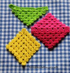 homemade Make it ! Variations of a crochet pattern! - homemade Make it ! Variations of a crochet pattern! Diy Crochet Stitches, Crochet Granny, Baby Blanket Crochet, Crochet Motif, Crochet Yarn, Double Crochet, Free Crochet, Crochet Patterns, Crochet Ideas