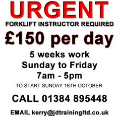 Forklift Instructors Wanted:goto http://ift.tt/2bhEkvH for more info #jobsearch #training #safety