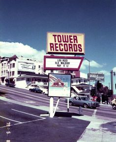 First Tower Records in the country located in San Francisco California. San Francisco California, California Love, Northern California, California History, Time Travel, Places To Travel, North Beach, Tower Records, Street Signs