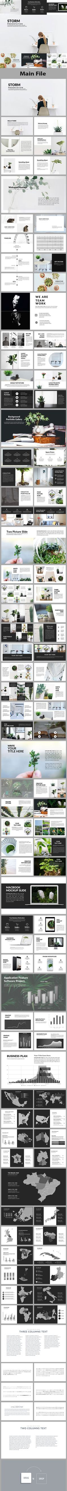 Storm - Creative #PowerPoint Template - Creative PowerPoint #Templates Download here: https://graphicriver.net/item/storm-creative-powerpoint-template/19488282?ref=alena994