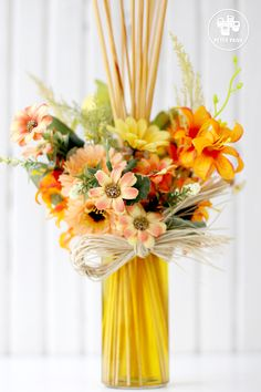 Arranjo Perfumado com essências de Jasmin Branco 70% e Flor de Laranjeira 30%
