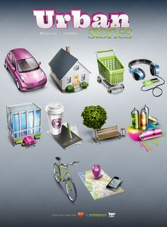 Urban Stories - 10 free icons by *LazyCrazy on deviantART