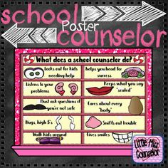 What Does a School Counselor Do? Potato PosterSweet candy themed visual aid to remind students how school counselors help students. *****************************************************************************Check out these productsStudent Rules for Success Potato Poster.Confidentiality School Counselor Poster.Got a Big Problem Poster 2016-2017 School Counselor Planner.*****************************************************************************Customer Tips: How to get TPT credit to use…