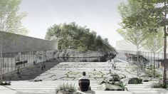 Image 1 of 12 from gallery of Winning Yisabu Dokdo Memorial Park Entry Excavates Site to Celebrate the Journey of Legendary Korean General. Courtesy of Simplex Architecture Memorial Architecture, School Architecture, Amazing Architecture, Parque Industrial, Industrial Park, Architecture Drawings, Landscape Architecture, Fantastic Voyage, Memorial Park