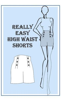 New Absolutely Free sewing hacks shorts Popular Really easy High waist shorts Sewing Hacks, Sewing Tutorials, Sewing Crafts, Sewing Tips, Beginner Sewing Patterns, Free Printable Sewing Patterns, Dress Tutorials, Diy Sewing Projects, Free Sewing