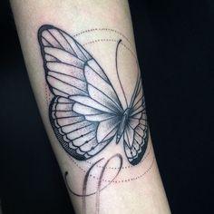 Tattoo by @misssita for Élodie. Tattoo by @misssita for Laurent. #misssitatattoo #oneoninetattoo #dotworkers #blacktattooing #blxckink #newtattooworkers #linework #dotworktattoo #darkartists #blacktattooart #blackworkers #butterflytattoo
