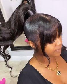 Hair Ponytail Styles, Black Ponytail Hairstyles, Sleek Ponytail, African Braids Hairstyles, My Hairstyle, Weave Hairstyles, Pretty Hairstyles, Curly Hair Styles, Natural Hair Styles
