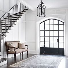Stunning foyer details designed by @thedesignatelier. | @scoutandnimble instagram