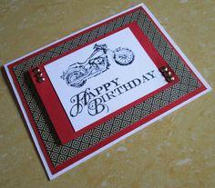 Happy Birthday Card Bike Motorbike Motorcycle by DreamsByTheRiver, $4.00