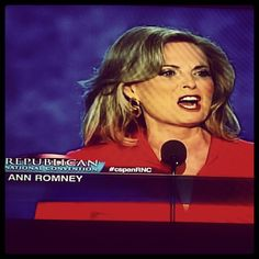 Ann Romney speaking at the #RNC2012 conventions. #AnnRomney