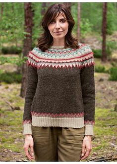 Wooling n°2 - n°12 Pull empiècement Jacquard  Modèles, broderie & tricot  Achat en ligne