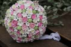 Bridal clay  bouquet. Terracotta by Elena Levit.