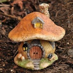 Mushroom Fairy House www.teeliesfairygarden.com After a long day of garden work, gnomes always look forward to relax in a comfortable place. Let them stay in this cozy mushroom house and take a rest that they deserve. #fairyhouse