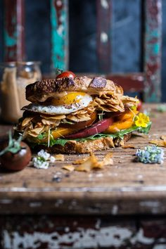 "Vegan BLT (…minus that egg) with Chipotle Tahini ""Mayo"" | halfbakedharvest.com @hbharvest"