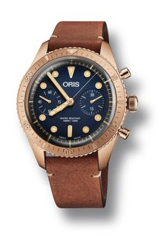 The Oris Carl Brashear Chronograph Limited Edition  - inside the bronze chronograph, we have the Oris Caliber 771, which is a modified Sellita SW 510 movement with a two-counter chronograph and a 48-hour power reserve. #divewatch #oris #watchtime #chronograph
