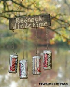 Decor Ideas Idea Box by Sensible Gardening and Living Redneck Beer Can Wind Chime. Really cute idea for a tree near the shed!Redneck Beer Can Wind Chime. Really cute idea for a tree near the shed! Redneck Christmas, Gag Gifts Christmas, Santa Gifts, Holiday Gifts, Christmas Crafts, Xmas, Holiday Quote, Redneck Crafts, Redneck Party