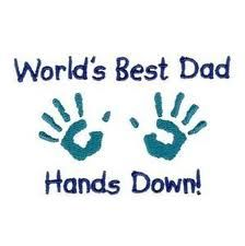 World's Best Dad Hands Down! Fathers Day Crafts, Happy Fathers Day, Happy Birthday Daddy, Miss My Dad, Daddy Day, Big Daddy, Gifts For Hubby, Worlds Best Dad, Mother And Father