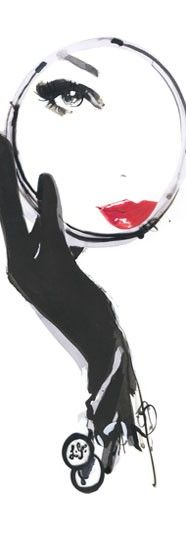 red lips illustration