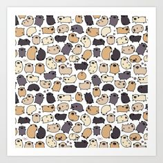 Buy Pug Life Doodle Art Print by kirakiradoodles. Worldwide shipping available at Society6.com. Just one of millions of high quality products available.