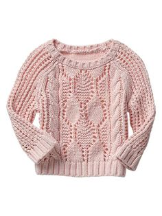 Cable knit crew sweater Product Image