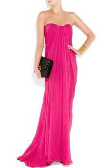 Alexander McQueen pleated pink chiffon.....skirt style