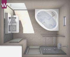 badkamer met hoekbad 3d badkamer ontwerpen pinterest