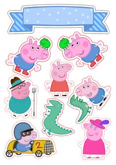 Danielle Holder's media content and analytics Bolo George Pig, Cumple George Pig, George Pig Party, Pig Birthday Cakes, Girl Birthday Themes, Peppa Pig Stickers, Cute Stickers, Bolo Da Peppa Pig, Peppa Pig Baby