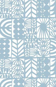 light blue patchwork Art Print