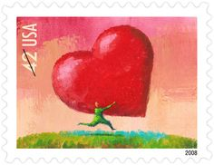 2008 Love stamp: All Heart
