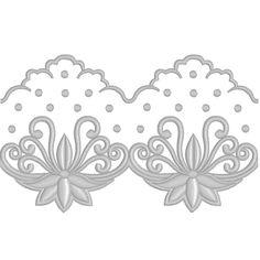 Free Machine Embroidery Design - Lace border