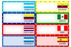FREE Spanish Country Name Tags Plates